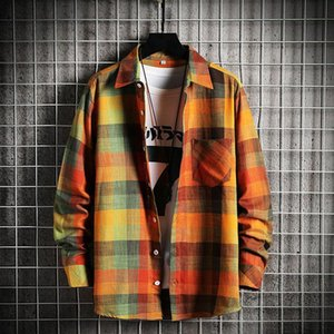 2021 Lovers Summer Spring New Women Mens Plaid Shirt Flannel Lumberjack Scottish Wind Shirt Brushed Cotton Casual Thin Coat
