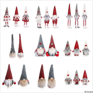 22 Styles Funny Christmas No Face Dolls European & American style Window Doll Santa Claus Doll Cartoon Christmas Toys