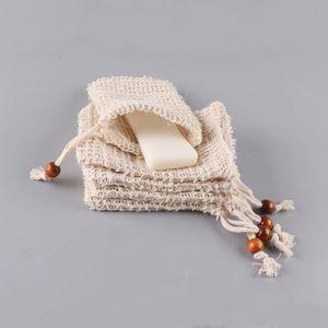 Мыло ручной работы отшелушивающие сумки Drawstring натуральный сизаль мыло для мыла чистая портативная сетка вспенивающаяся сушка мыльная контейнерная сумка VTKY2185
