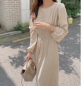 S-XL Plus Size New Spring Dress Girls Boho Chiffon Female Vintage Dress Party oversize long Sleeve Women Dresses Robe Vestido