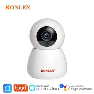 TUYA CAMERA WIFI IP IP Inalámbrico Smart Life Compatible Google Home Assistant Alexa 1080P PTZ para la vigilancia de la seguridad de la casa en interiores