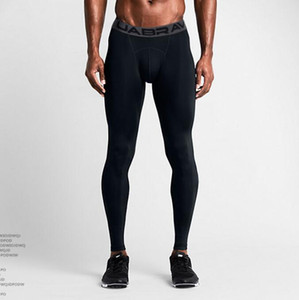 2020 Free Shipping Men's sports tights quick-drying breathable outdoor running sports pants men's basketball pants Color Black White S-XXL