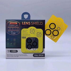 3D прозрачный полный крышка камеры задний объектив протектор закаленного стекла пленка для iPhone 12 Mini Pro Max 11 Pro Max с розничной торговлей