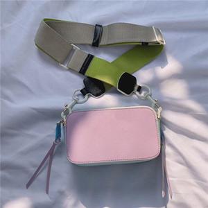 alça de estrela mesmo saco da câmera banda larga bolsa de contraste de cor pequeno saco quadrado novo ombro largo versátil sacos saco do mensageiro das mulheres