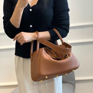 High-end personalizzato autunno e inverno Caramello Primo strato della pelle bovina Medicina Borsa a tracolla ascellare borsa delle donne