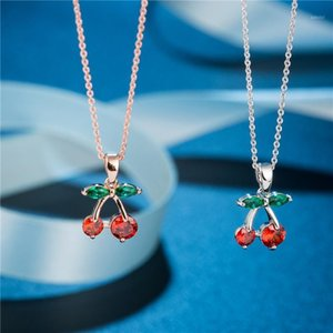 Fashion personality Necklace female cherry clavicle chain fashion necklace1