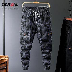 Cargo d'hiver Jantour Streetwear Automne Pantalons Hommes Pantalones De Hombre Poches multiples Camo Joggers 98% coton 6XL 7XL