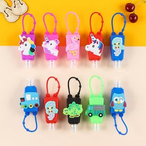 30ml Cartoon Patch Silicone Sleeve Shock Proof Protector Sleeves Hand Sanitizer Cover Wrap Thicken Dust Proof Protective Skin BWF2522