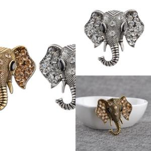 J79FH rétro Brooch Diamond Vente rapide Style mignon éléphant populaire nouvel animal broche éléphant créativité animal broche animal