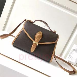 2020 messenger bag free shipping high quality black embossed leather ladies handbag shoulder bag retro messenger bag