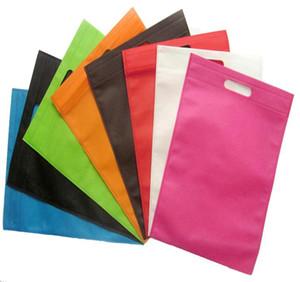 25 * 30cm 100 Stück Großhandel Einzelhandel Wiederverwendbare umweltfreundliche Non Woven Einkaufstaschen Solid Color-Qualitäts-Taschen
