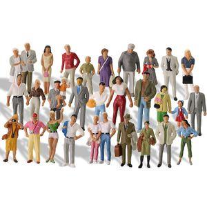 Tutti scala Persone Stare in piedi O scala 1:43 dipinto a figure ferroviaria figure Scenery Miniature LJ200928