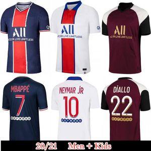 2020 2021 Maillots de foot 19 20 21 Maglia Calcio junior ICARDI PA P Mbappe Marquinhos S Neymar g RIS camisetas jr maglie kit maglia da calcio
