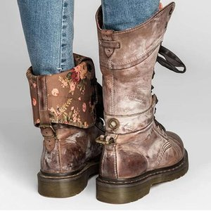 Plus size women's boots 2020 new winter European and American casual knight boots high barrel thick heel explosive fashion boots