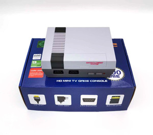 미니 레트로 600 TF 카드 핸드 헬드 홈 TV, 2 개의 콘솔 8 비트 시스템 HD 비디오 게임 콘솔