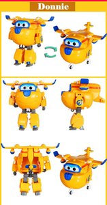 cm Donnie Super Wings Big Size Planes Transformation Robot Action Figures Toys Super Wing Mini Jett Toy for Christmas Gift