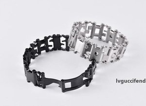New Dining 29 in 1 Multifunction Tread Bracelet Outdoor Bolt Driver Tools Kit Travel Friendly Wearable Multitool Stainless Steel