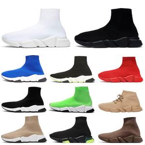 balenciaga Entrenador de velocidad negro Full Red para hombre diseñador de la marca calcetín zapatos zapatillas zapatillas casual calcetines zapatos botas de mujer