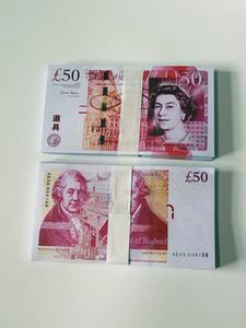 50 livres Prop Banknote Comptage Prop Money Party Jeux Cadeaux Fake Money BankNote Copier Papier Simulation