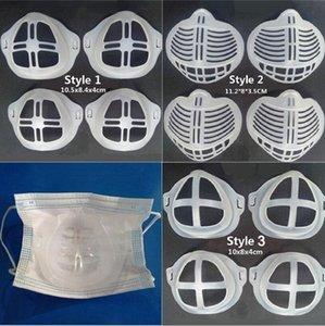 Mask 3D Silikon-Bracket Lippenstift Schutz Ständer Maske Pad Inner Mundabdeckungs-Kissen-Unterstützung Atemmasken Werkzeug-Zubehör LJJP603