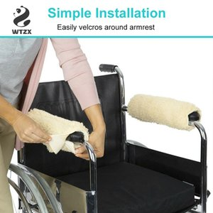 Wheelchair Armrest Cover Fleece A Pair Of Seat Armrest Pad Memory Foam Anti-slip For Office Home