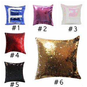 Sublimation Blank Pillow Case Mermaid Paillettes Cuccioli Cuscini FAI DA TE Cuscino Throw Pillowcases Cuscini magici Cover Sofà Pillowcases GWC3472
