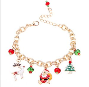 Christmas Tree Santa Claus Bracelet 2020 Merry Christmas Decor Gifts for Daughter Girls Girlfriend Happy New Year GWE2603