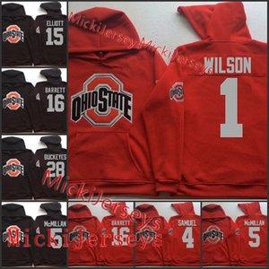 Özel Ryan Shazier Ohio State Buckeyes Futbol Hoodie 1 Braxton Miller 4 Curtis Samuel 5 Raekwon McMillan 12 Cardale Jones Ohio Hoodie