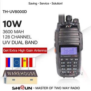 TYT TH-UV8000D Walkie Talkie 10 km Çift Band VHF UHF 10W Radyo Comunicador 10 km 3600mAh Cross Band Repeater Fonksiyonu Tyt Radio 201112