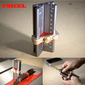 Multifuncionales para trabajar la madera Herramientas Taladro Límite Instalación del anillo Router Ayuda sierra de mesa Altura Calibre taladro angular Medidor Regla # ue2A