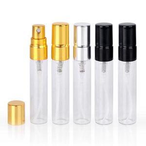 новые 5 мл Портативных Флаконы для духов Mini Travel Стеклянных Атомайзеров 3 цветных бутылок Parfum Для распылителя