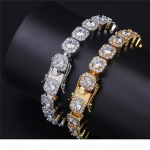 Mens Hip Hop High Quality Bracelets Iced Out Micro Pave Cubic Zircon Tennis Link Bracelet 10mm 7inch 8inch