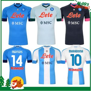 20 21 Napoli 축구 유니폼 Maglietta osimhen insigne 2020 2021 나폴리 Maglia Mertens Verdi Milik 성인 남자 + 키트 키트 축구 셔츠