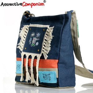 Fringed Handbag Retro Canvas Dongba Crossbody Messenger Handmade Bag Character Girl Shoulder Women National Casual Hand Ethnic Gsapq