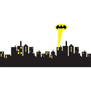 * 5 * размеры Готэма SKYLINE Batman Decal Съемный стикер стены Home Decor Art 1007