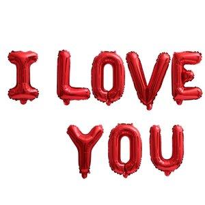16 Inch I LOVE YOU Balloon Set Wedding Valentine's Day Anniversary Birthday Balloon Party Decoration Aluminum Foil Balloon DBC BH4648