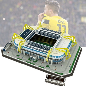 Classic Jigsaw Puzzle Architecture Signal Iduna Park Schwarz-Gelb Football Stadiums Brick Toys Scale Models Sets Building Paper Y200413