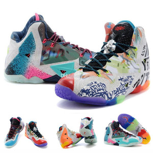 what the lebron 11 XI kids basketball shoes men for sale lebrons 11s Christmas BHM Oreo youth kids Generation sneakers
