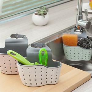 Kitchen Sink Storage Drain Basket Cleaning Sponge Draining Holder Rack Kitchen Hanging Sink Drain Storage Tools Sink Holder YHM813