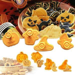 Cookie-Rutter Бесплатная Доставка Производители Прямые продажи 4 шт. Хэллоуин Печенье Печенье Печенье Печенье Пластиковый Выпечки Плунжер Набор