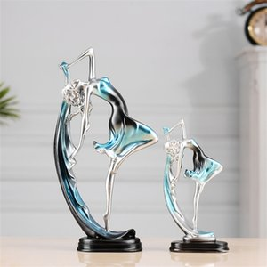 Dancing Girl Figures Figurines Miniatures Home Decor Luxury Artware Accessories Resin Decoration Ornaments Birthday Gift