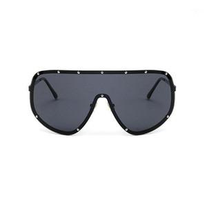 Mincl / 2018 xxl surdimensionné énorme gros grand bouclier enveloppe femmes lunettes de soleil polarisées hommes et femmes mode lunettes de soleil uniques FML1