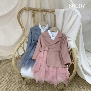 Korean Childrens Clothing 2020 Spring and Autumn New Coat Girls Small Fragrance Dress Windbreaker Jacket Childrens Suit Cardigan