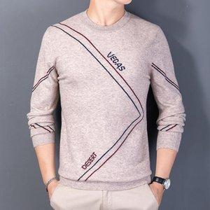 El nuevo Suéter de Cashmere de Jacquard de Invierno 2021 The Men Manga Larga Gentleman Gentleman Cuello redondo Suéteres Hombre