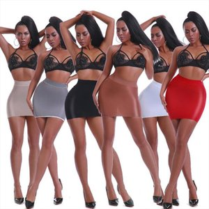 2020 New Womens Skirt Shiny Glossy Oil Elastic Package Hip Micro Mini Dress Sexy Transport Pencil Skirt Night Club Party