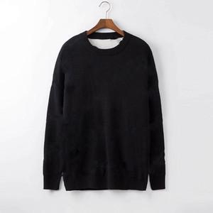 Hommes Mode Designer Sweats Sweats Sweats 2019 Nouvelle lettre de luxe Tricots Hiver Hiver Mens Hommes Vêtements Couche à manches longues à manches longues