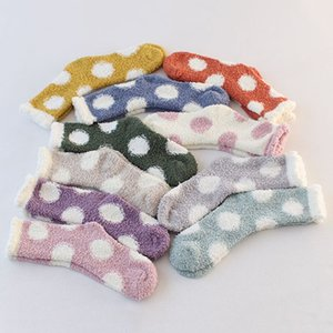 Kawaii invierno coral terciopelo calcetines cálidos mujeres felpa encantadora calcetines corazón punto de cara alfombra calcetines de las señoras
