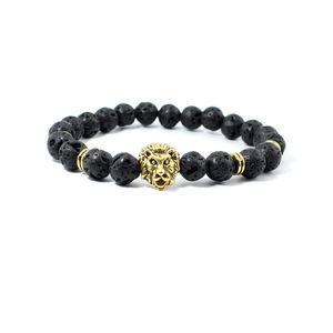 Natural Lava Rock Stone Bracelets 8mm Black Energy Chakra Beads Yoga Bracelet Reiki Buddha Strands Bracelet Mala Bracelets ps1331