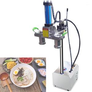 Máquina de fideos de rastrillo hidráulico comercial de 2500W Máquina de fideos eléctricos de acero inoxidable Press1