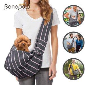 BenEPAW Moda Small Dog Carrier Confortável Forte Cinto De Segurança Ajustável Strap Strap Respirável Sling para Cachorros Cachorrinho Cats1